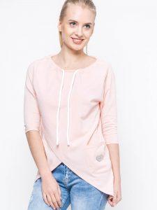 bluza z wiązanym dekoltem