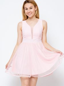 sukienka koktajlowa różowa