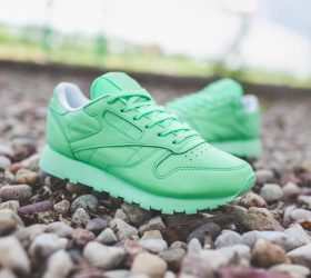 miętowe reebok classic leather